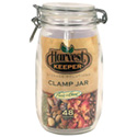 48 oz Glass Jar with Clamp Lid